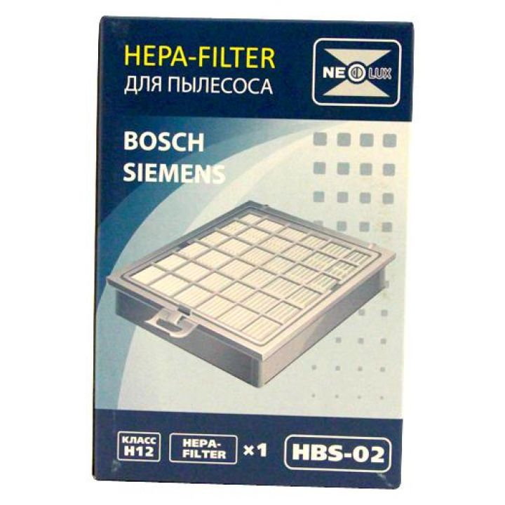 HEPA фильтр Neolux HBS-02 для пылесосов Bosch/Siemens