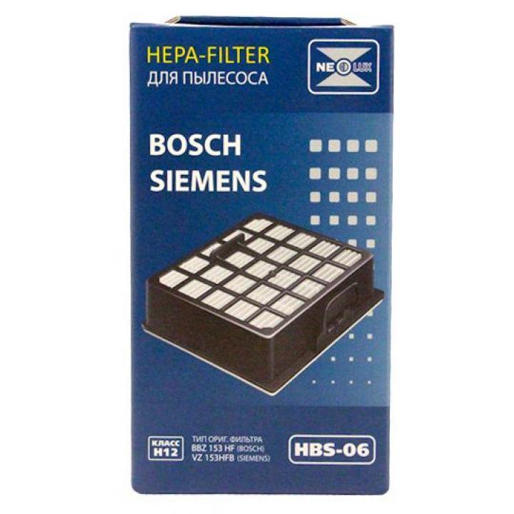 HEPA фильтр Neolux HBS-06 для пылесосов Bosch/Siemens