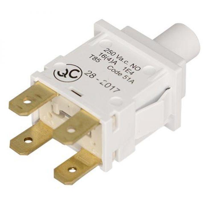 Кнопка сетевая Beko без светодиода 4 контакта (2808540400)